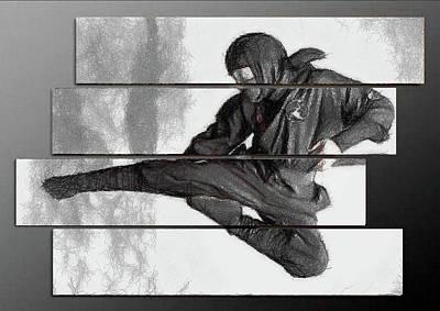 Digital Art - Ninja Warrior by Mario Carini