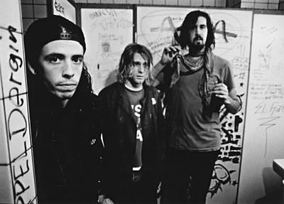 Photograph - Nirvana Backstage by Paul Bergen