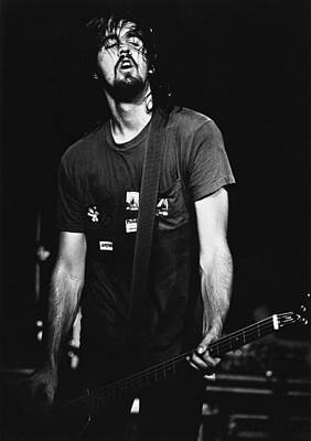 Photograph - Nirvana Bassist by Paul Bergen