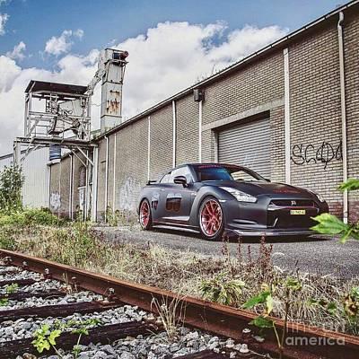 Blue Hues - Nissan GTR Trackside by EliteBrands Co