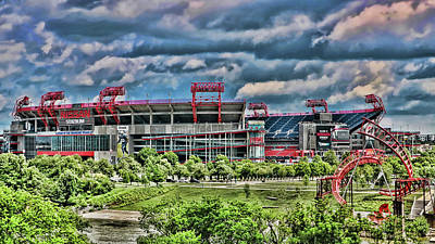 Photograph - Nissan Stadium # 2 - Home Of The Tennessee Titans by Allen Beatty