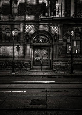 Art Print featuring the photograph No 107 Wellington St W Toronto Canada Toned Version by Brian Carson