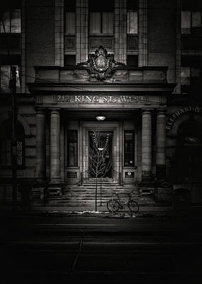 Art Print featuring the photograph No 212 King Street West Toronto Canada by Brian Carson