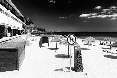 Photograph - No Dogs Allowed On Cascais Beach Portugal by John Rizzuto
