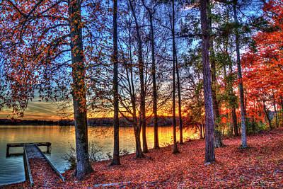 Photograph - No Eye Has Seen Majestic Fall Sunset Lake Oconee Georgia Landscape Art by Reid Callaway