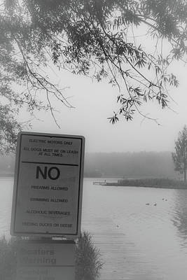 Photograph - No Feeding Ducks by James L Bartlett