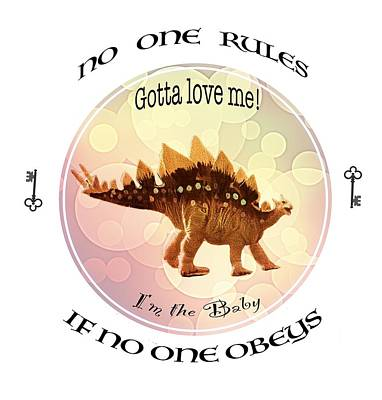 Digital Art - No One Rules If No One Obeys By Olena Art by OLena Art Brand