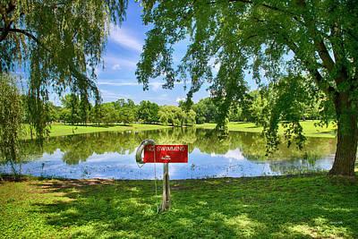 Photograph - No Swimming At Otsiningo Park by Christina Rollo