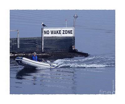 Photograph - No Wake Zone by Art MacKay