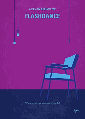 Digital Art - No1002 My Flashdance Minimal Movie Poster by Chungkong Art