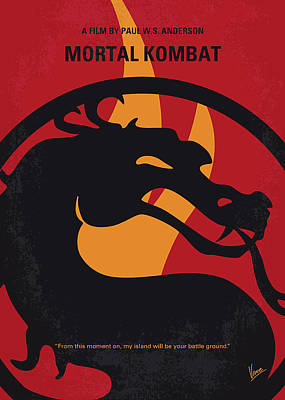 Digital Art - No1005 My Mortal Kombat Minimal Movie Poster by Chungkong Art