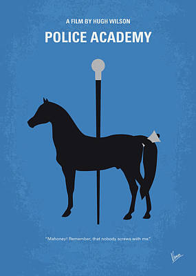 Police Wall Art - Digital Art - No1010 My Police Academy Minimal Movie Poster by Chungkong Art