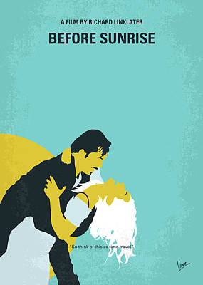Digital Art - No1011 My Before Sunrise Minimal Movie Poster by Chungkong Art
