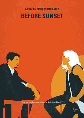 Digital Art - No1012 My Before Sunset Minimal Movie Poster by Chungkong Art