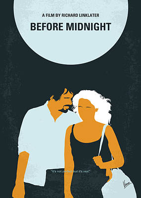 Digital Art - No1013 My Before Midnight Minimal Movie Poster by Chungkong Art