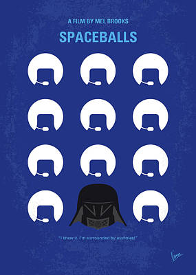 Digital Art - No1015 My Spaceballs Minimal Movie Poster by Chungkong Art