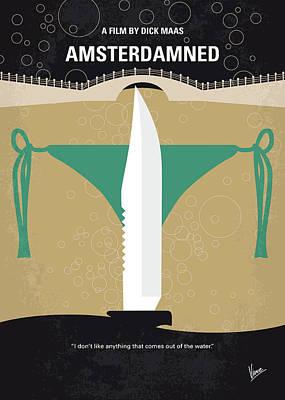 Digital Art - No1016 My Amsterdamned Minimal Movie Poster by Chungkong Art