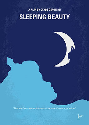Digital Art - No1017 My Sleeping Beauty Minimal Movie Poster by Chungkong Art