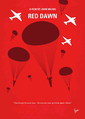 Digital Art - No1018 My Red Dawn Minimal Movie Poster by Chungkong Art