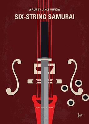 Falcons Wall Art - Digital Art - No1020 My Six-string Samurai Minimal Movie Poster by Chungkong Art