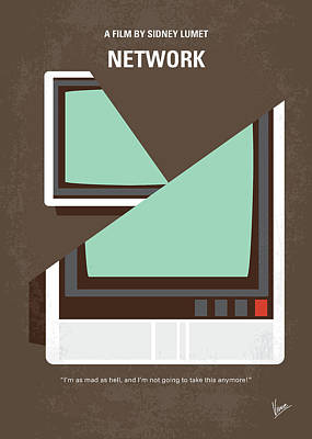 Digital Art - No1021 My Network Minimal Movie Poster by Chungkong Art