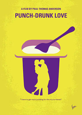 Digital Art - No1022 My Punch-drunk Love Minimal Movie Poster by Chungkong Art