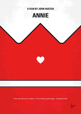 Digital Art - No1027 My Annie Minimal Movie Poster by Chungkong Art
