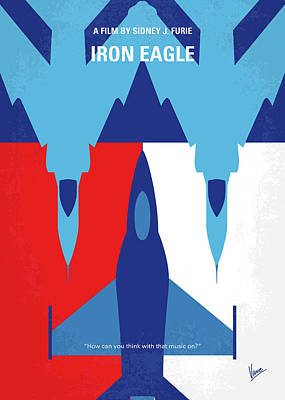 Digital Art - No1028 My Iron Eagle Minimal Movie Poster by Chungkong Art