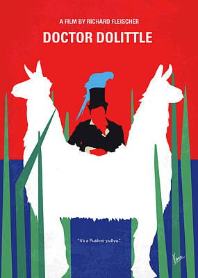 Digital Art - No1048 My Doctor Dolittle Minimal Movie Poster by Chungkong Art