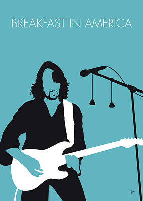 Digital Art - No215 My Supertramp Minimal Music Poster by Chungkong Art