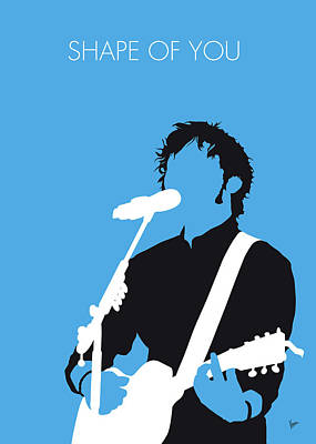 Digital Art - No219 My Ed Sheeran Minimal Music Poster by Chungkong Art