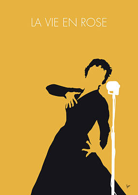 Digital Art - No224 My Edith Piaf Minimal Music Poster by Chungkong Art