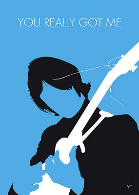 Digital Art - No229 My The Kinks Minimal Music Poster by Chungkong Art