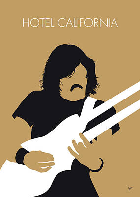Digital Art - No230 My The Eagles Minimal Music Poster by Chungkong Art