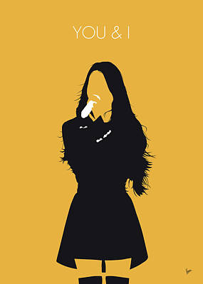 Digital Art - No250 My Iu Minimal Music Poster by Chungkong Art