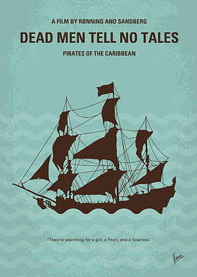 Digital Art - No494-5 My Pirates Of The Caribbean V Minimal Movie Poster by Chungkong Art
