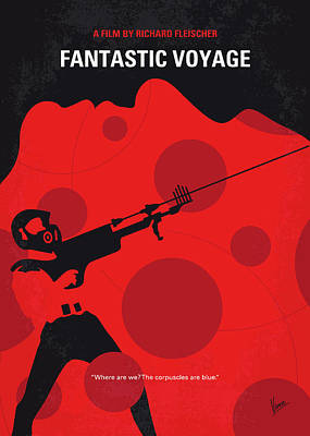 Digital Art - No974 My Fantastic Voyage Minimal Movie Poster by Chungkong Art