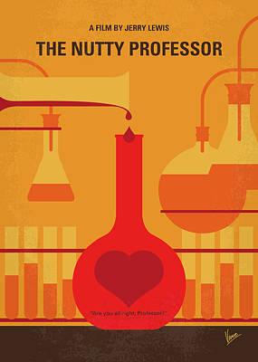 Chemistry Wall Art - Digital Art - No976 My The Nutty Professor Minimal Movie Poster by Chungkong Art