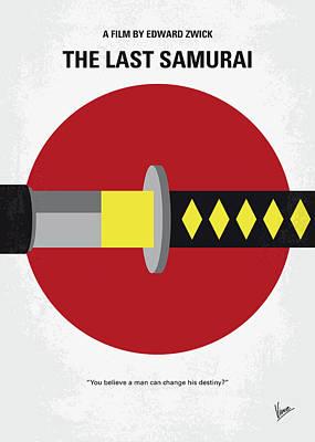 Digital Art - No980 My Last Samurai Minimal Movie Poster by Chungkong Art