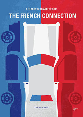 Digital Art - No982 My The French Connection Minimal Movie Poster by Chungkong Art