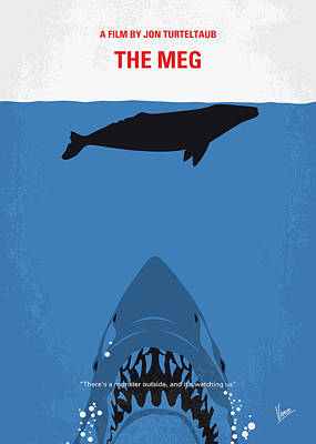 Nurse Shark Wall Art - Digital Art - No985 My Meg Minimal Movie Poster by Chungkong Art