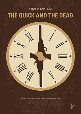 Digital Art - No988 My The Quick And The Dead Minimal Movie Poster by Chungkong Art