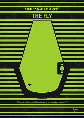 Digital Art - No991 My The Fly Minimal Movie Poster by Chungkong Art