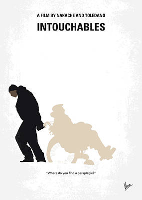 Digital Art - No994 My Intouchables Minimal Movie Poster by Chungkong Art