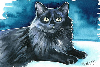 Painting - Noah Black Cat Painting by Dora Hathazi Mendes