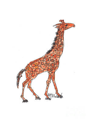 Painting - Noah The Giraffe by Kathleen McElwaine