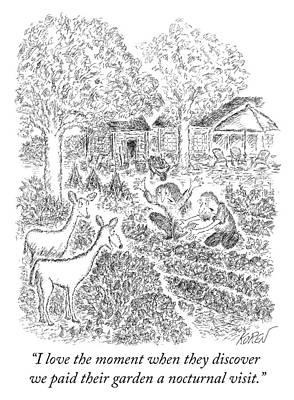 Drawing - Nocturnal Visit by Edward Koren