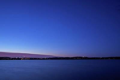Jouko Lehto Royalty-Free and Rights-Managed Images - Nokia city by night by Jouko Lehto