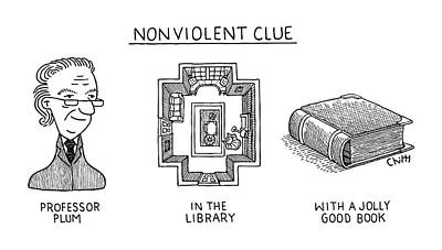 Drawing - Nonviolent Clue by Tom Chitty