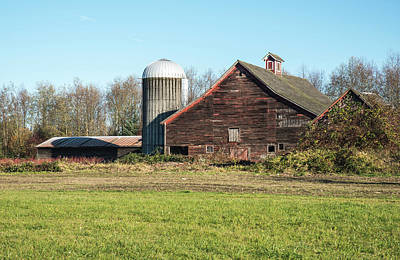 Photograph - Nooksack Farm Roof Shapes by Tom Cochran